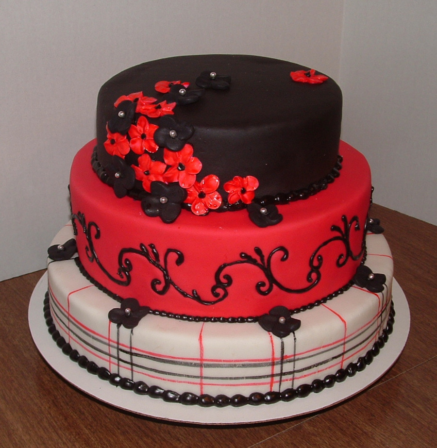 Superb Red And Black Birthday Cakecentral Com Funny Birthday Cards Online Inifodamsfinfo