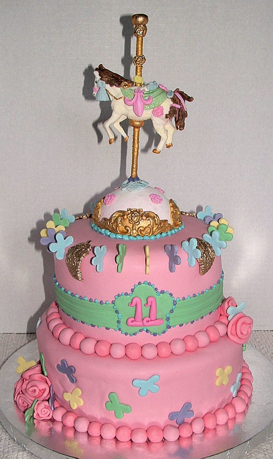 Carousel Horse Cake - CakeCentral.com