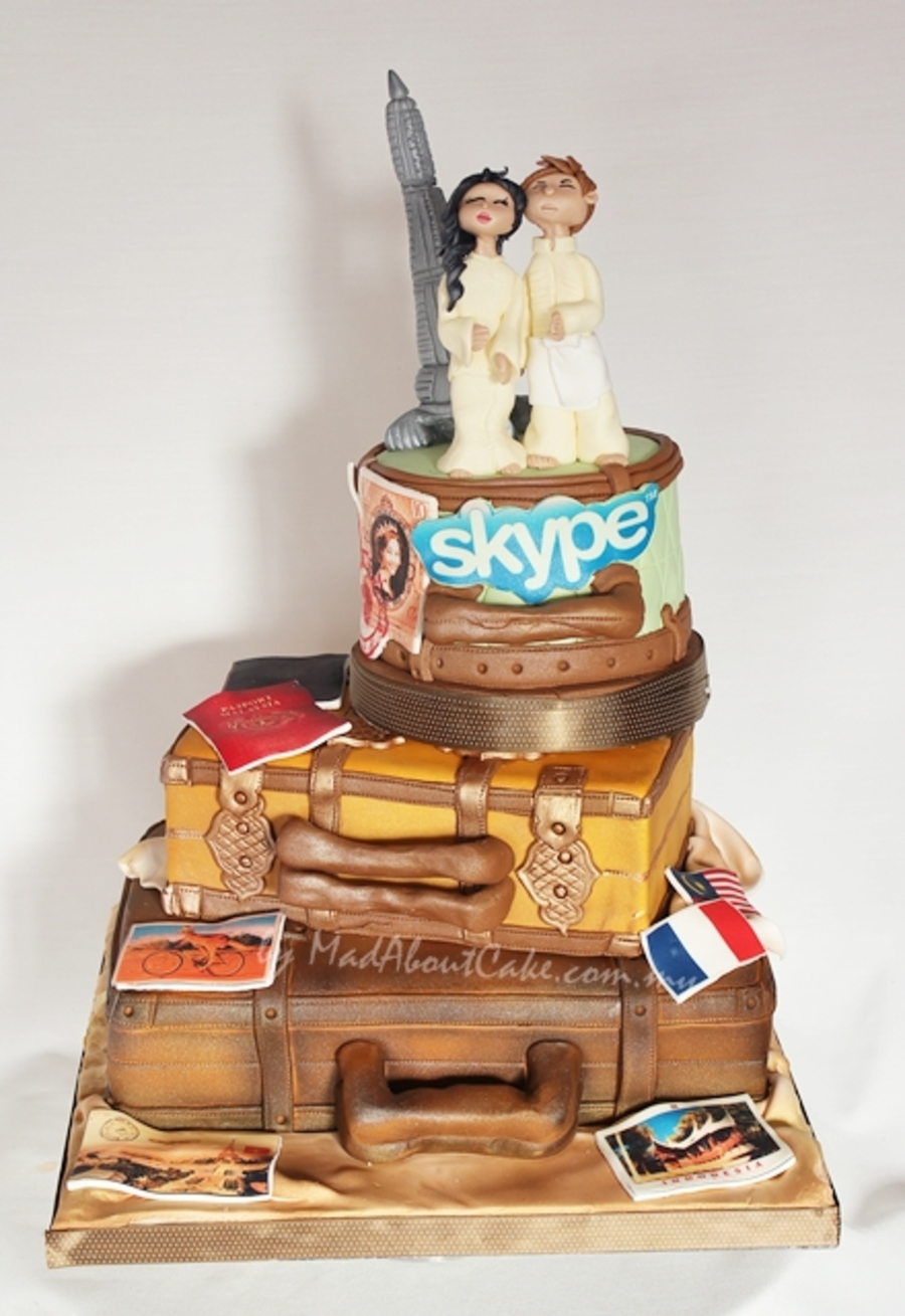 Long Distance Concept Wedding Cake Cakecentral Com