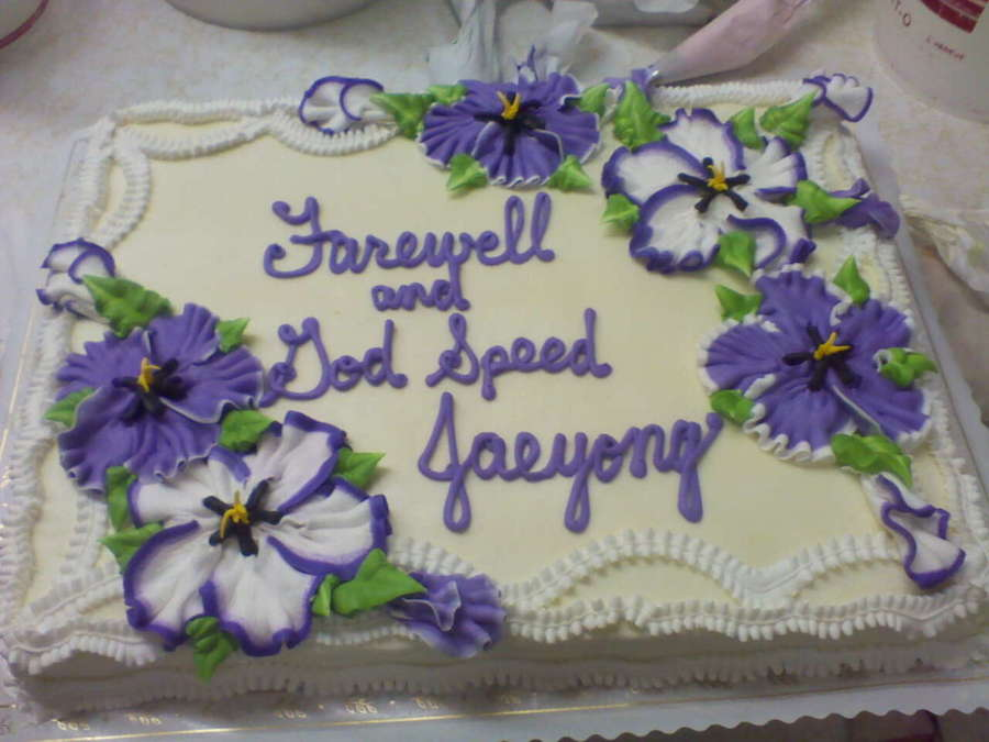 Farewell And Godspeed on Cake Central