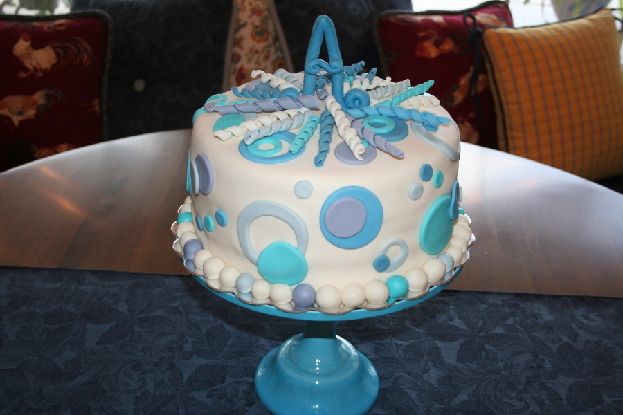 Blue Fun on Cake Central