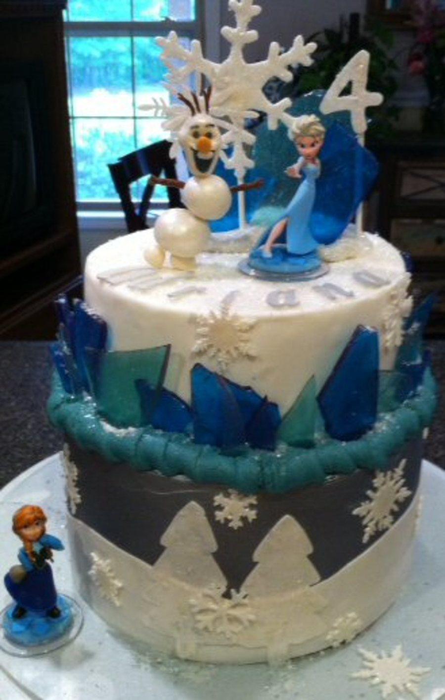 Disney Frozen Theme Cake Olaf Elsa Cakecentral Com