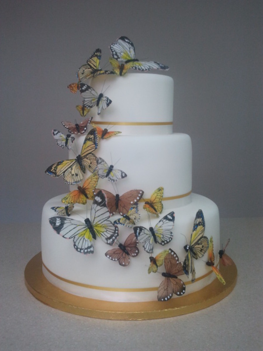 Cascading Butterflies on Cake Central
