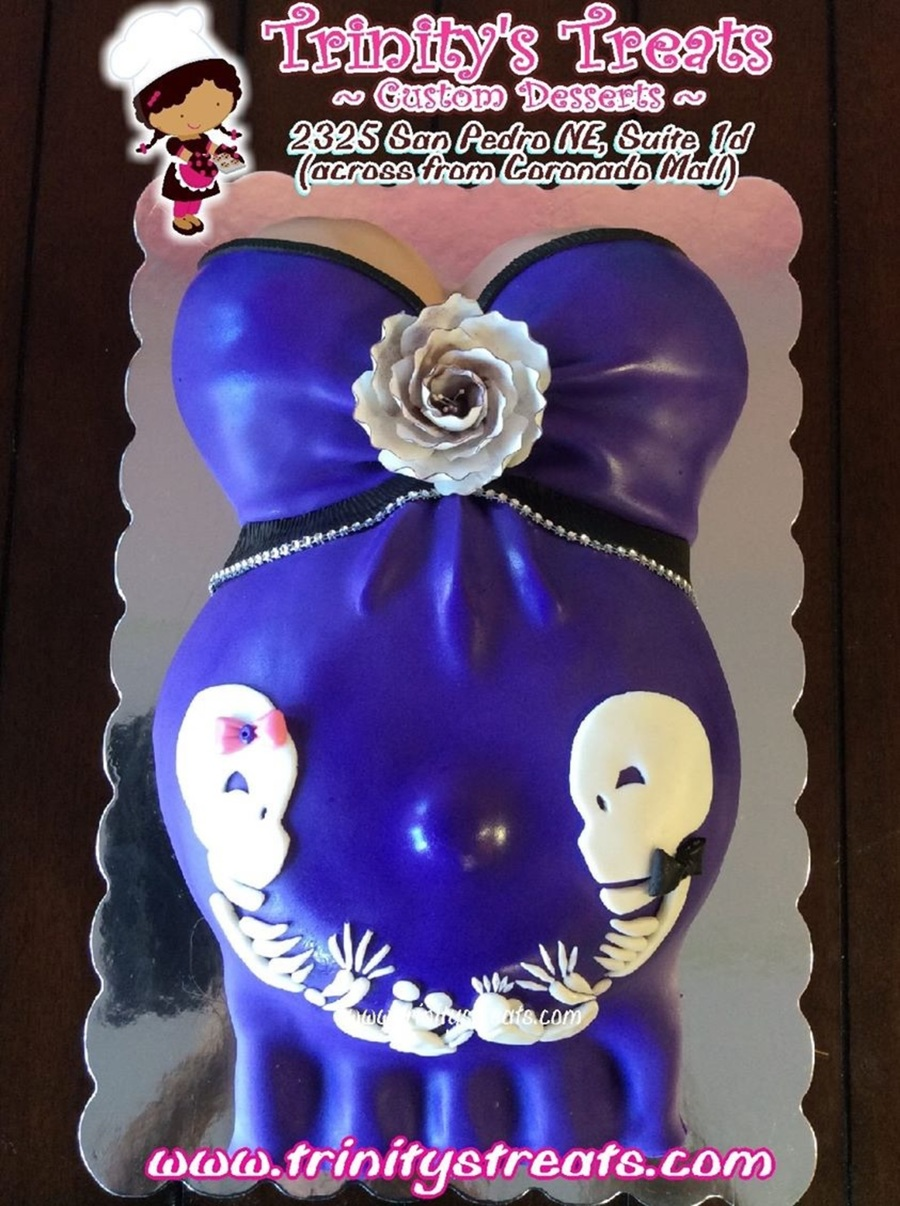 The Nightmare Before Christmas Baby Shower Cake Cakecentralcom