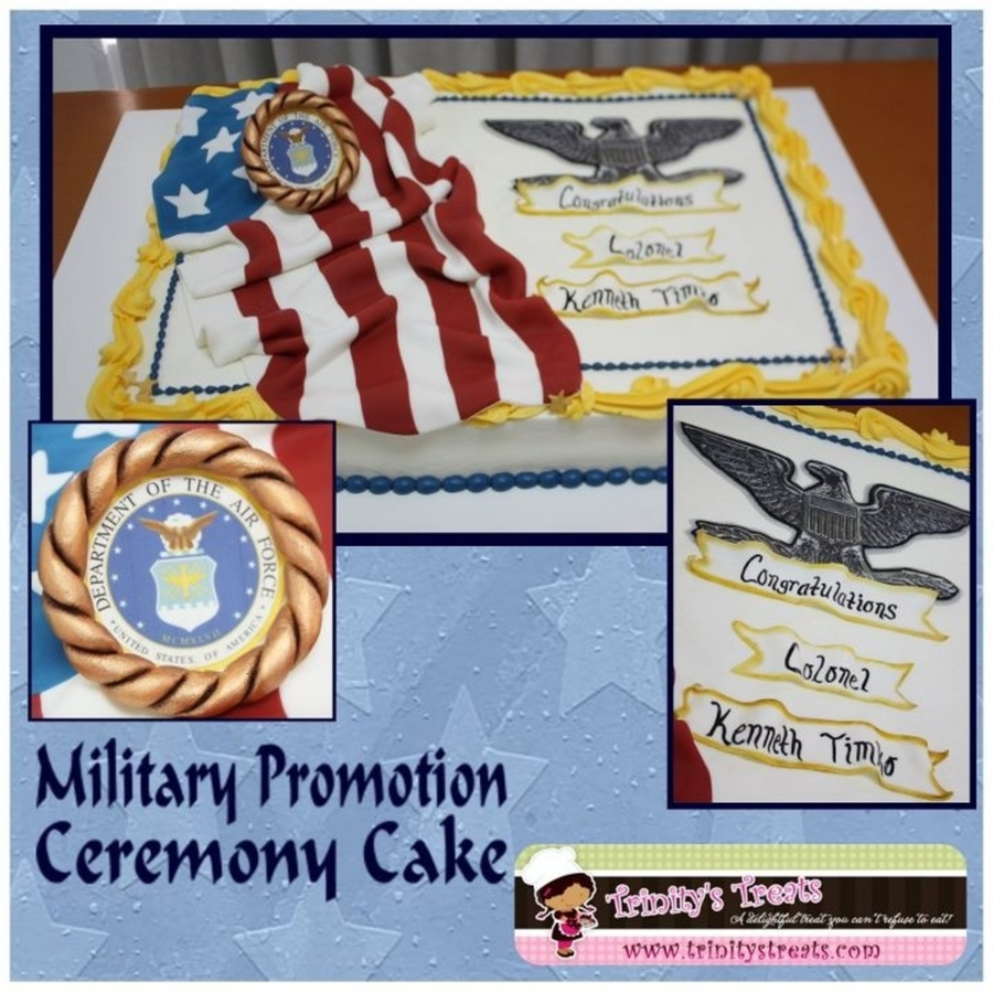 Air Force Promotion Cake on Cake Central