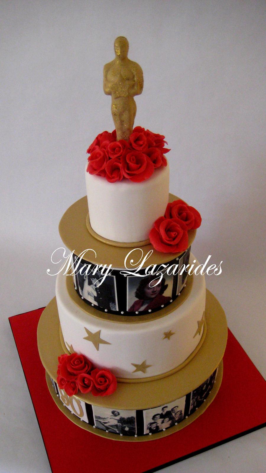 Hollywood Oscar Birthday Cake CakeCentralcom