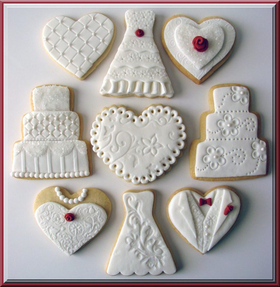 decorated wedding cake cookies wedding cookies cakecentral 13376