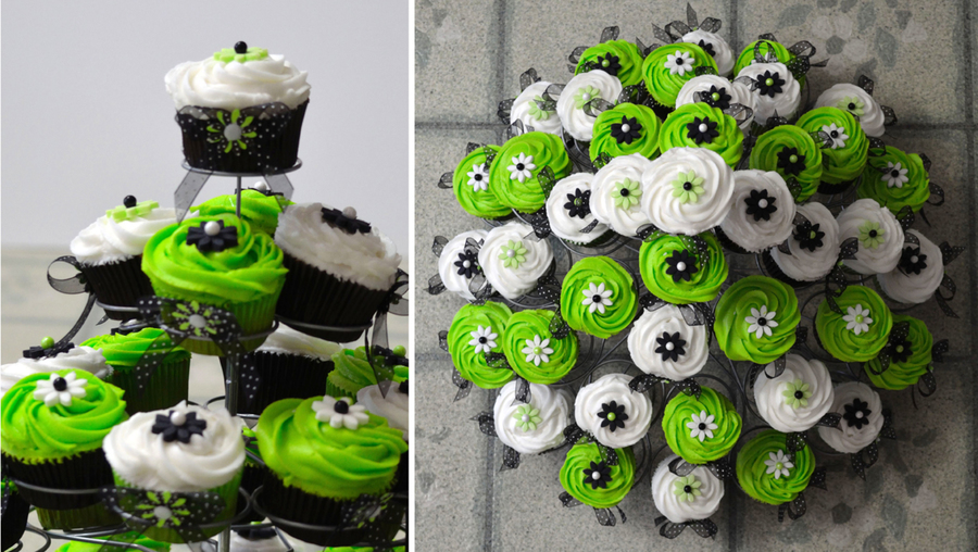Lime Green And Black Cupcakes on Cake Central