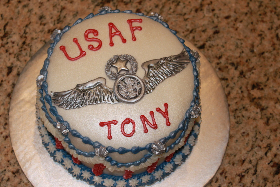 Us Air Force Wings Cake on Cake Central