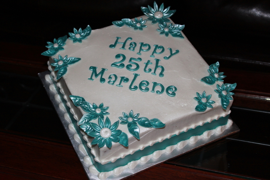Teal Daisies Cake on Cake Central