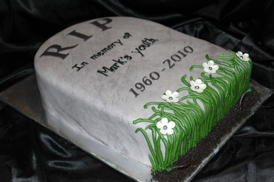 Tombstone Over The Hill Cake on Cake Central