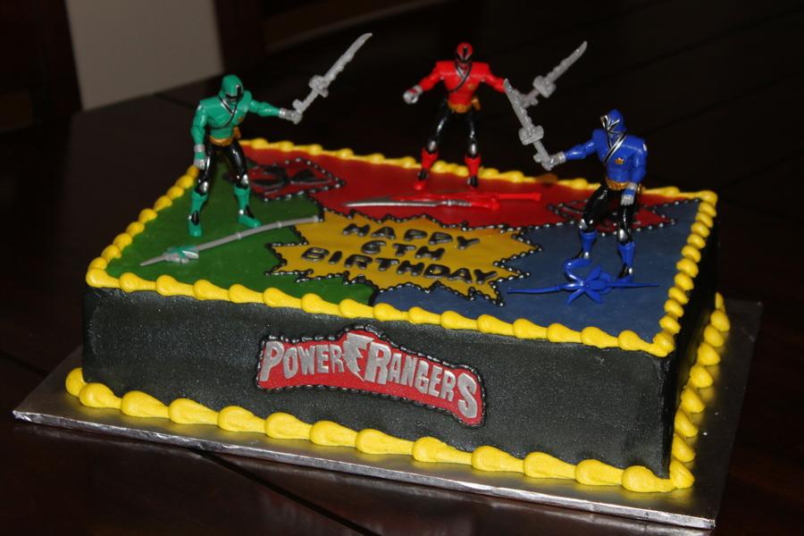 Mighty Morphin Power Rangers Cake
