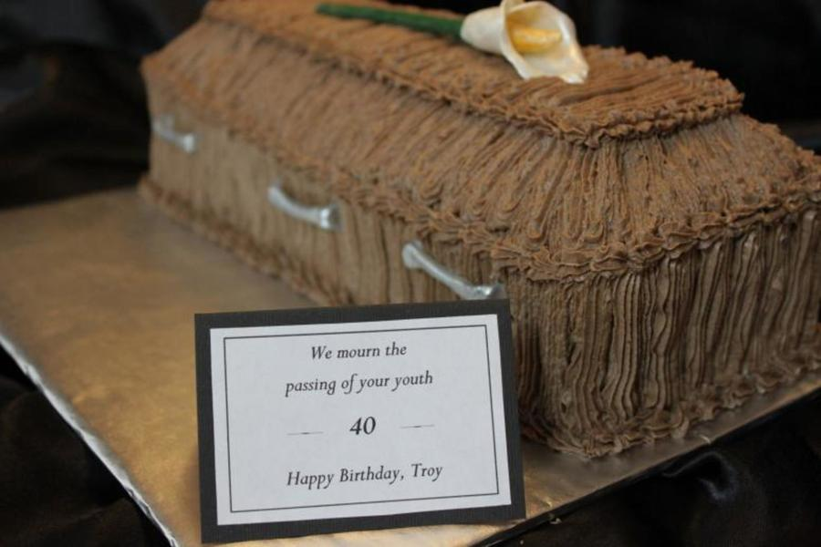 Coffin Over The Hill Cake - CakeCentral.com