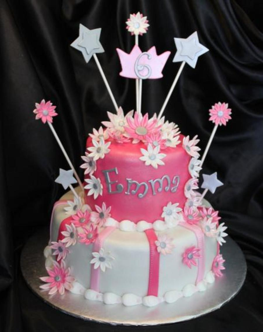 Pink White Daisies Cake on Cake Central