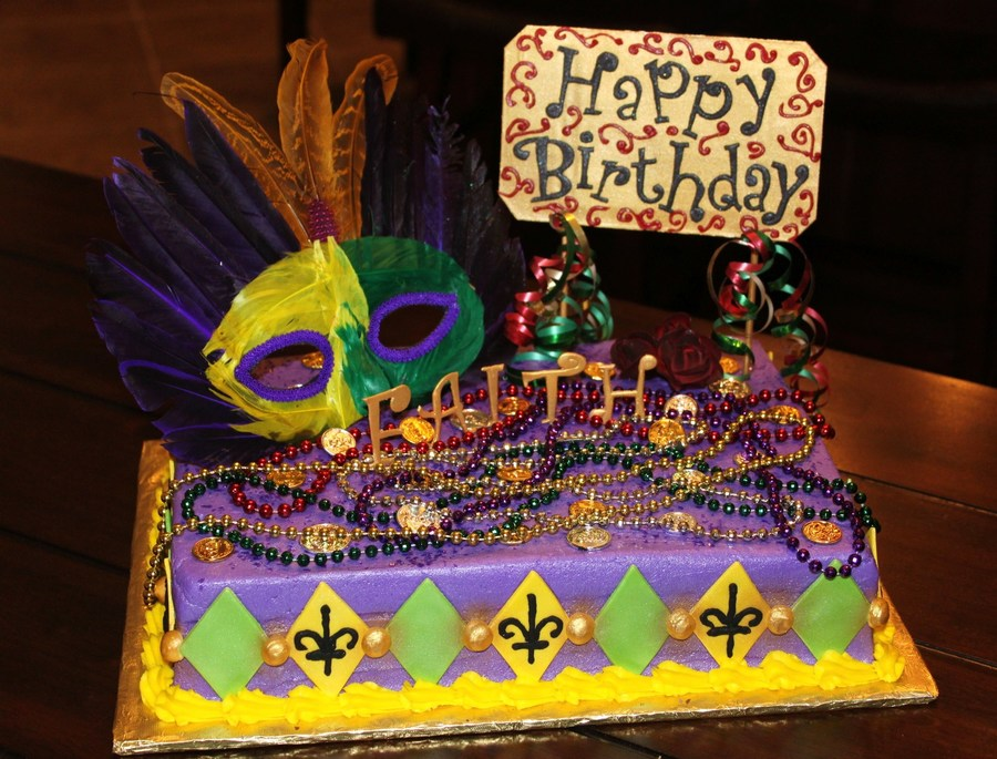 Sensational Mardi Gras Birthday Party Cakecentral Com Funny Birthday Cards Online Alyptdamsfinfo