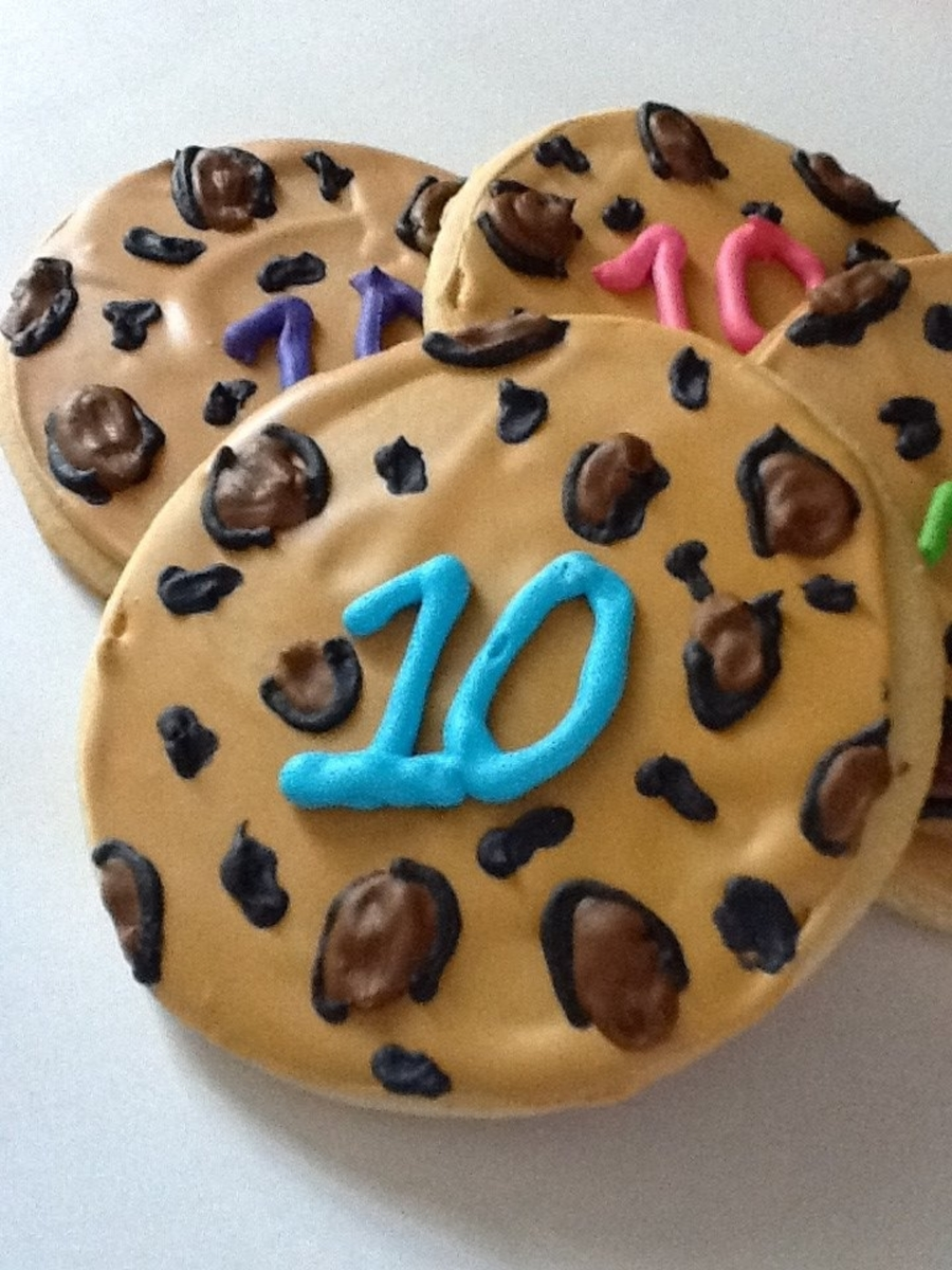 10Th Birthday Leopard Print Cookies on Cake Central