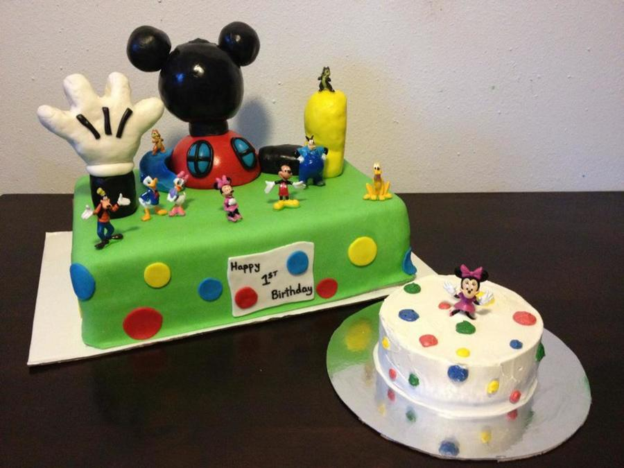Mickey Mouse Club House First Birthday on Cake Central
