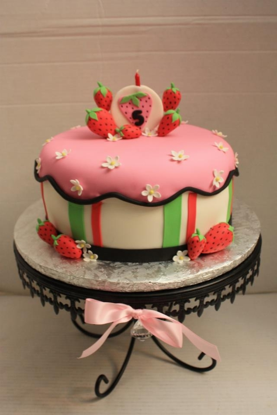Strawberry Theme Cake on Cake Central