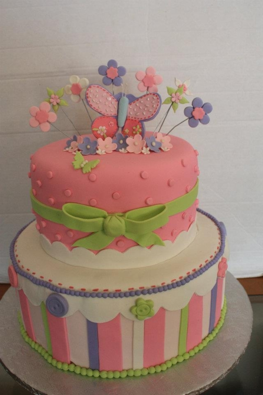 Amazing Pastel Butterfly Baby Shower Cake On Cake Central