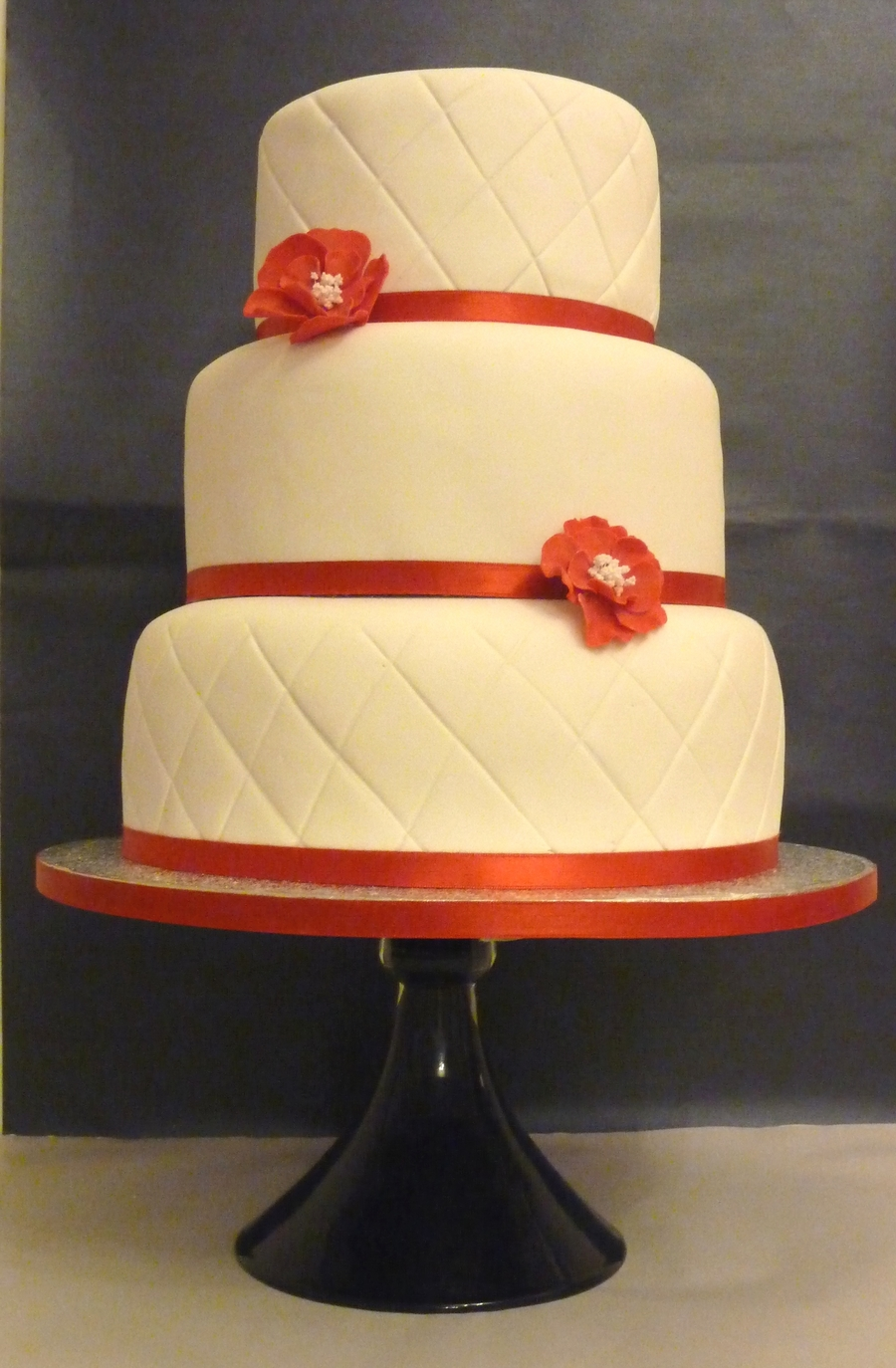 Red Dogwood Flower Cake on Cake Central
