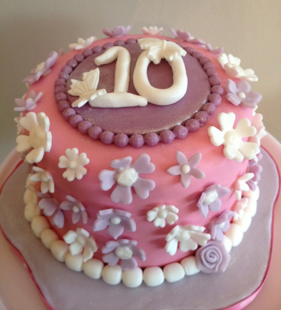Pretty In Pink (And Purple) on Cake Central