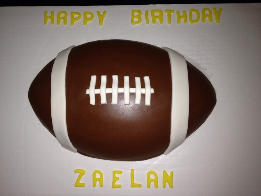 Football  on Cake Central