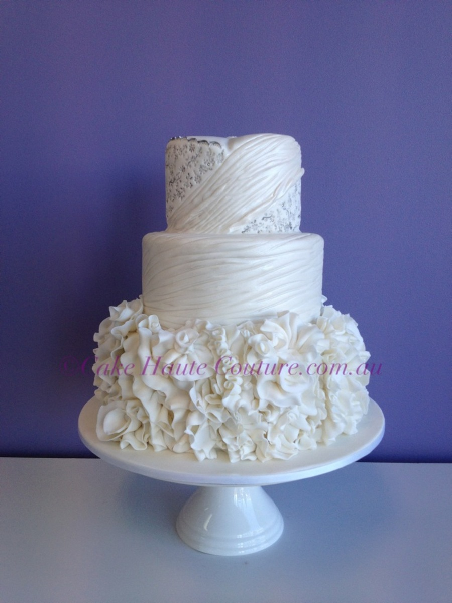 Wedding Gown Inspired Cake on Cake Central