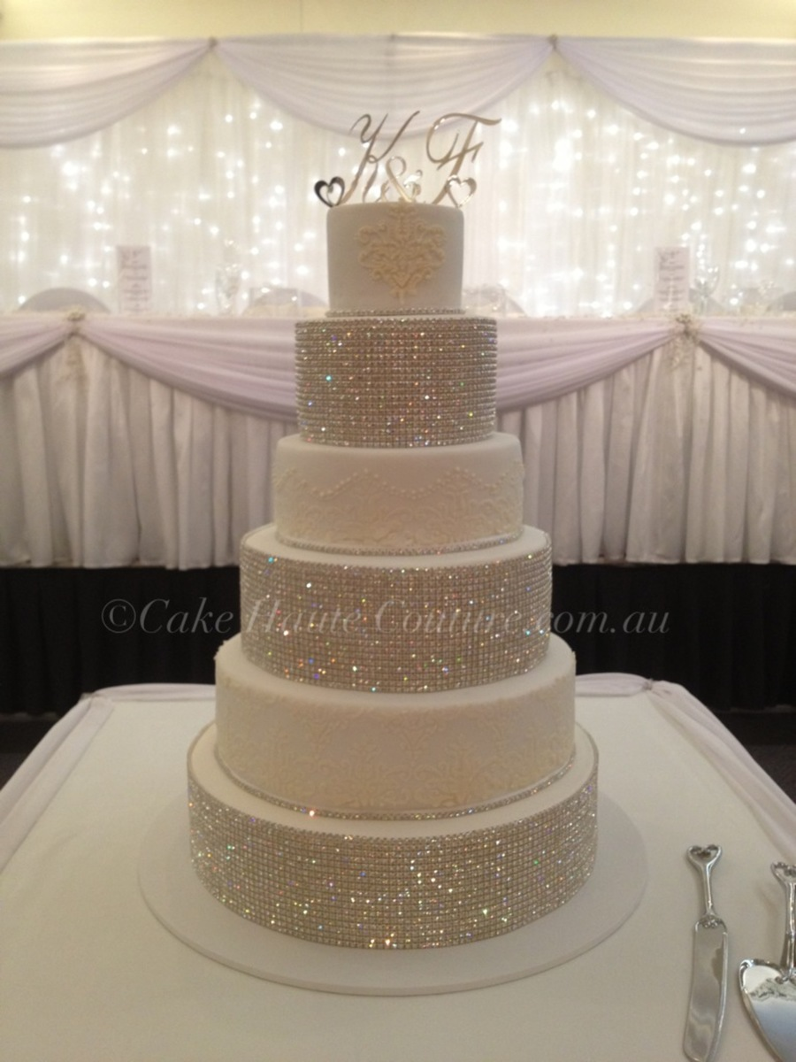 super one wedding cakes bling wedding cake cakecentral 20632