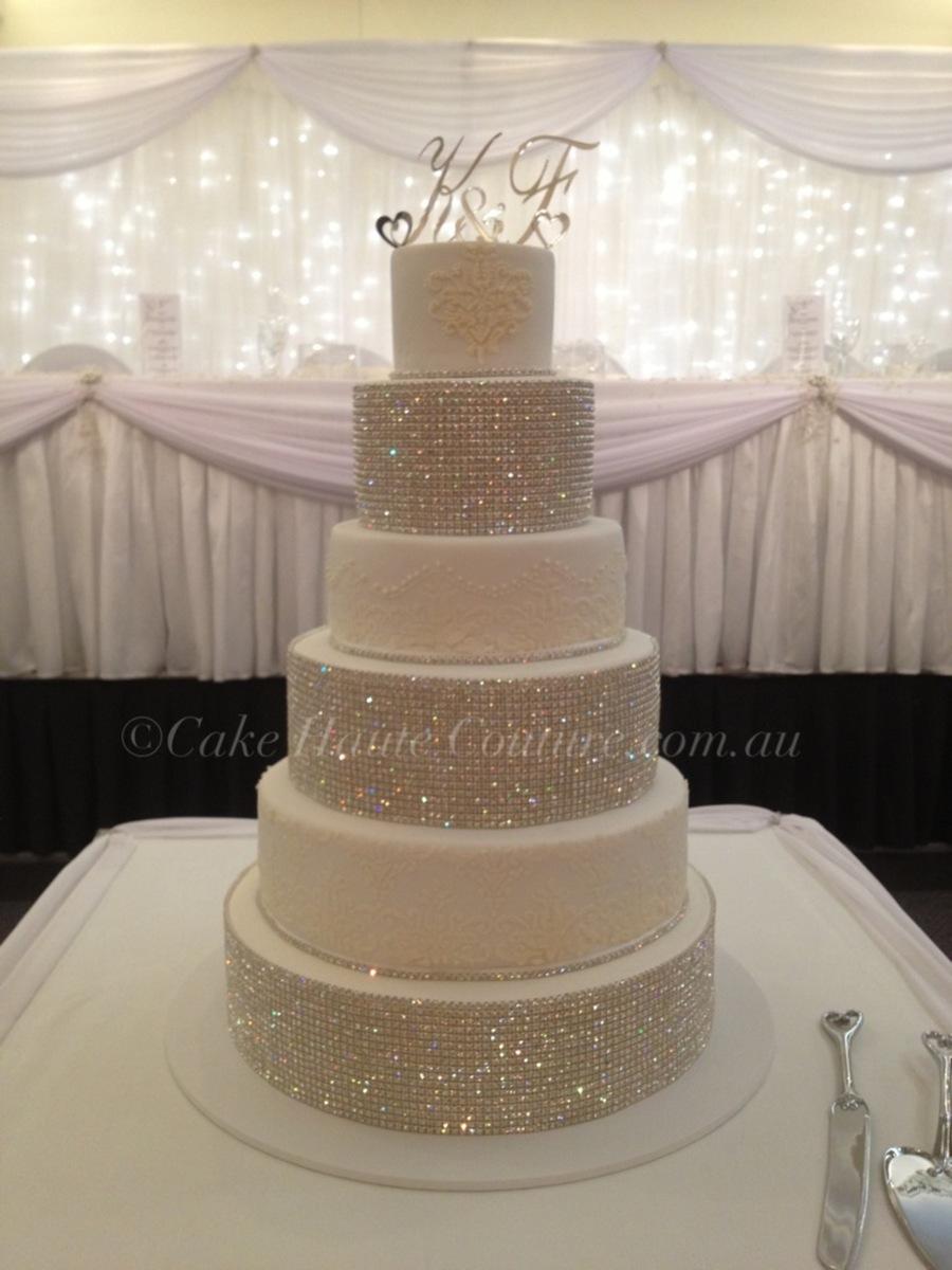 super bling wedding cake. Black Bedroom Furniture Sets. Home Design Ideas