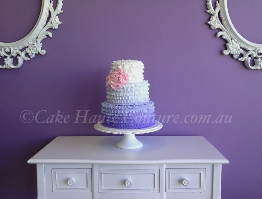 Ombré Ruffles on Cake Central