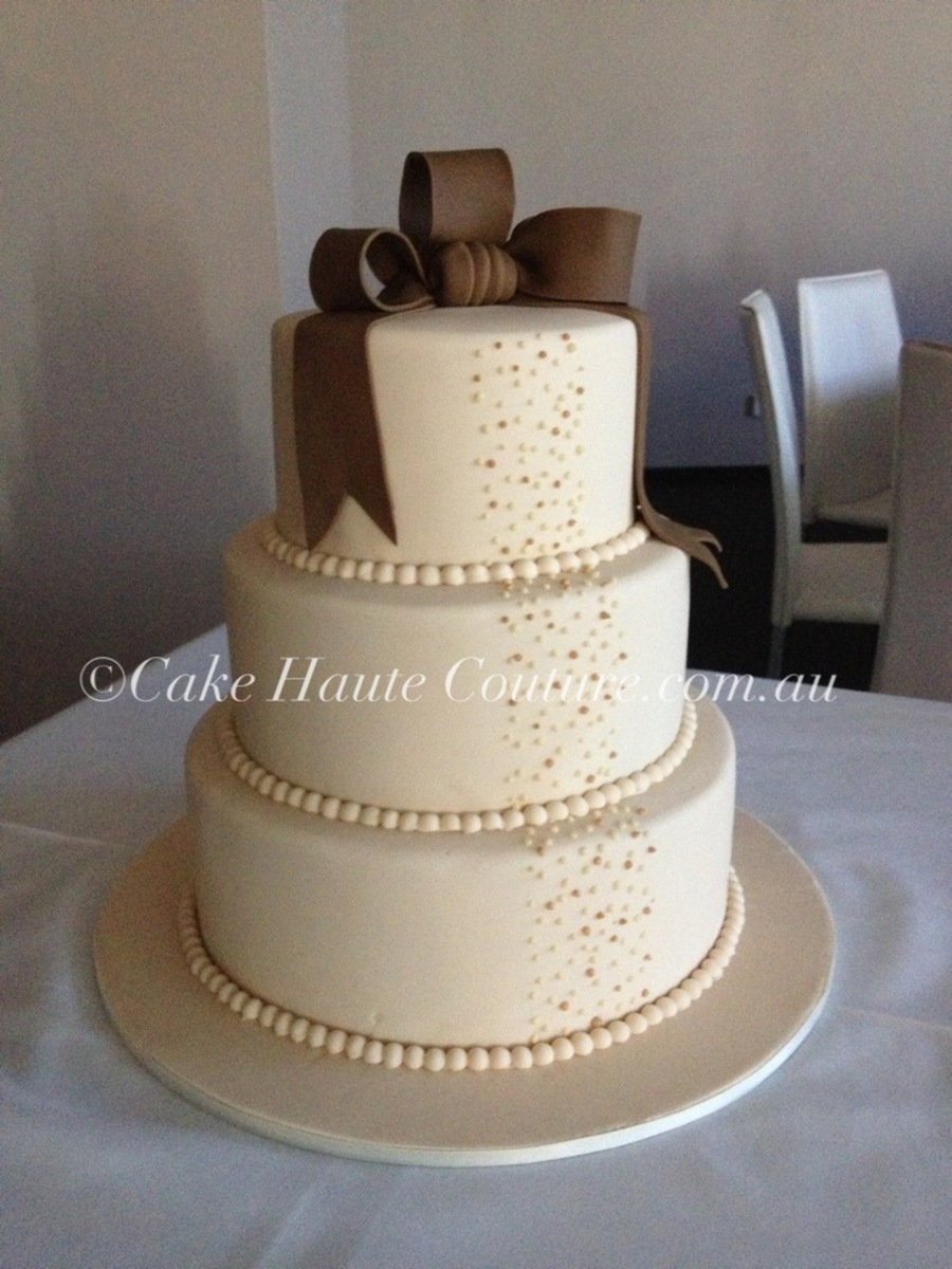 Latte Ribbons on Cake Central