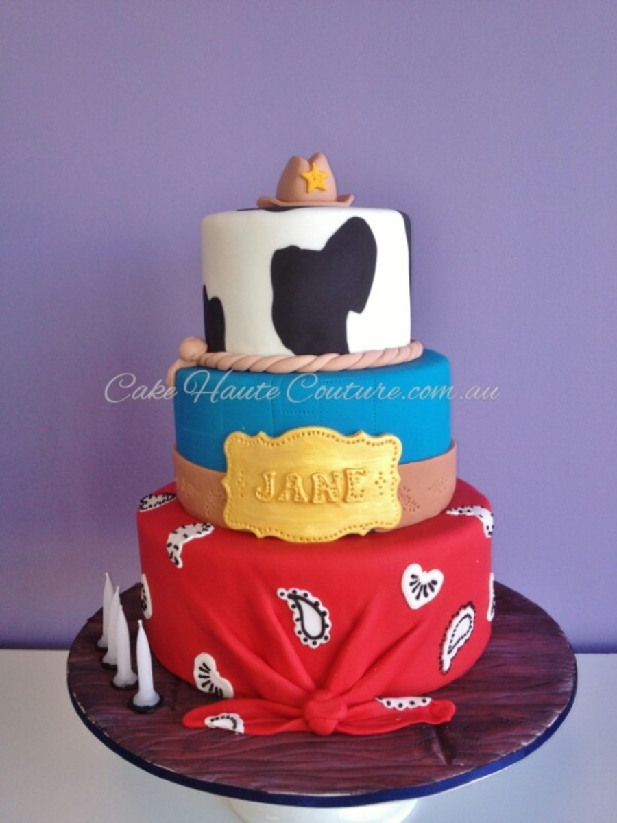 Fine Cowgirl Birthday Cake Cakecentral Com Personalised Birthday Cards Bromeletsinfo