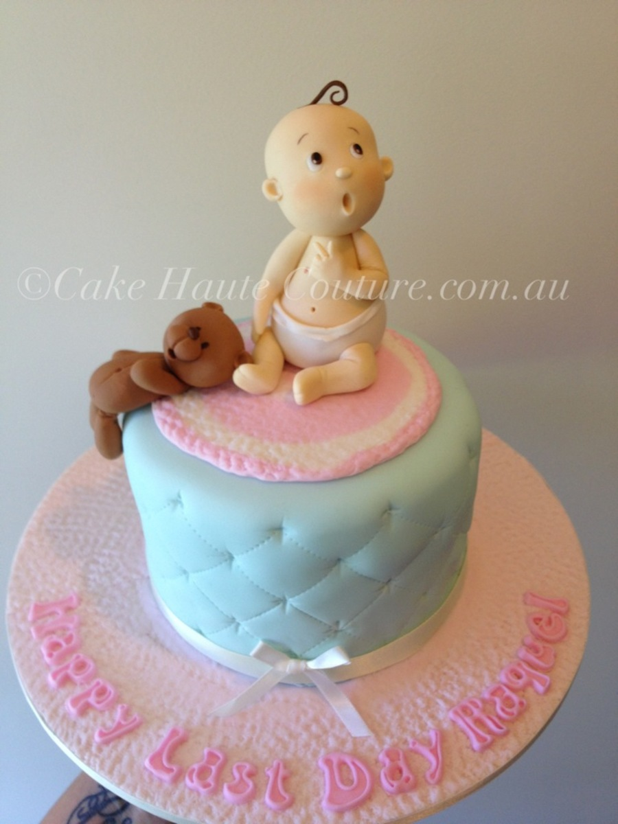 Cute Baby & Teddy on Cake Central