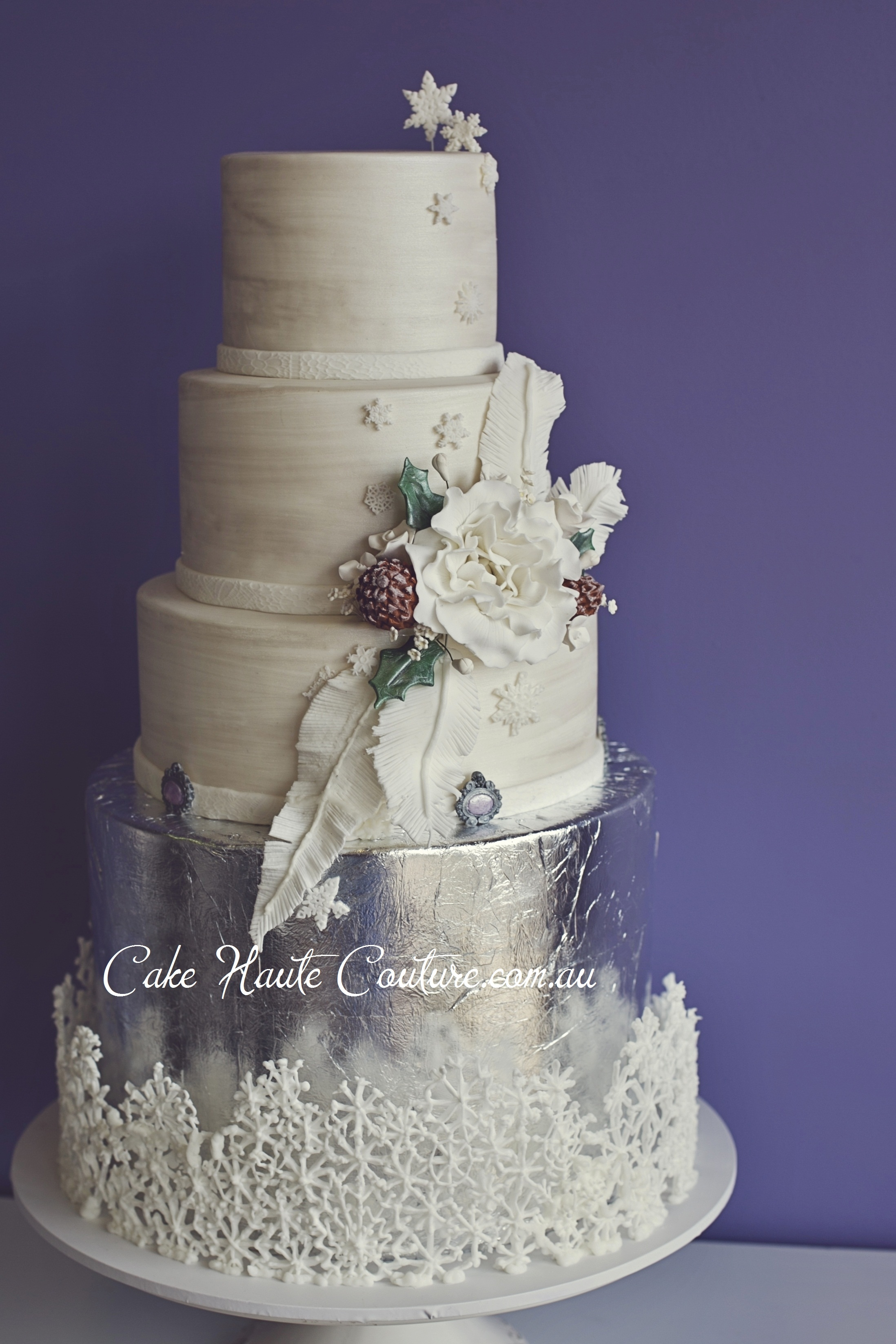 silver wedding cakes gallery cake central silver winter wedding cakecentral 19885