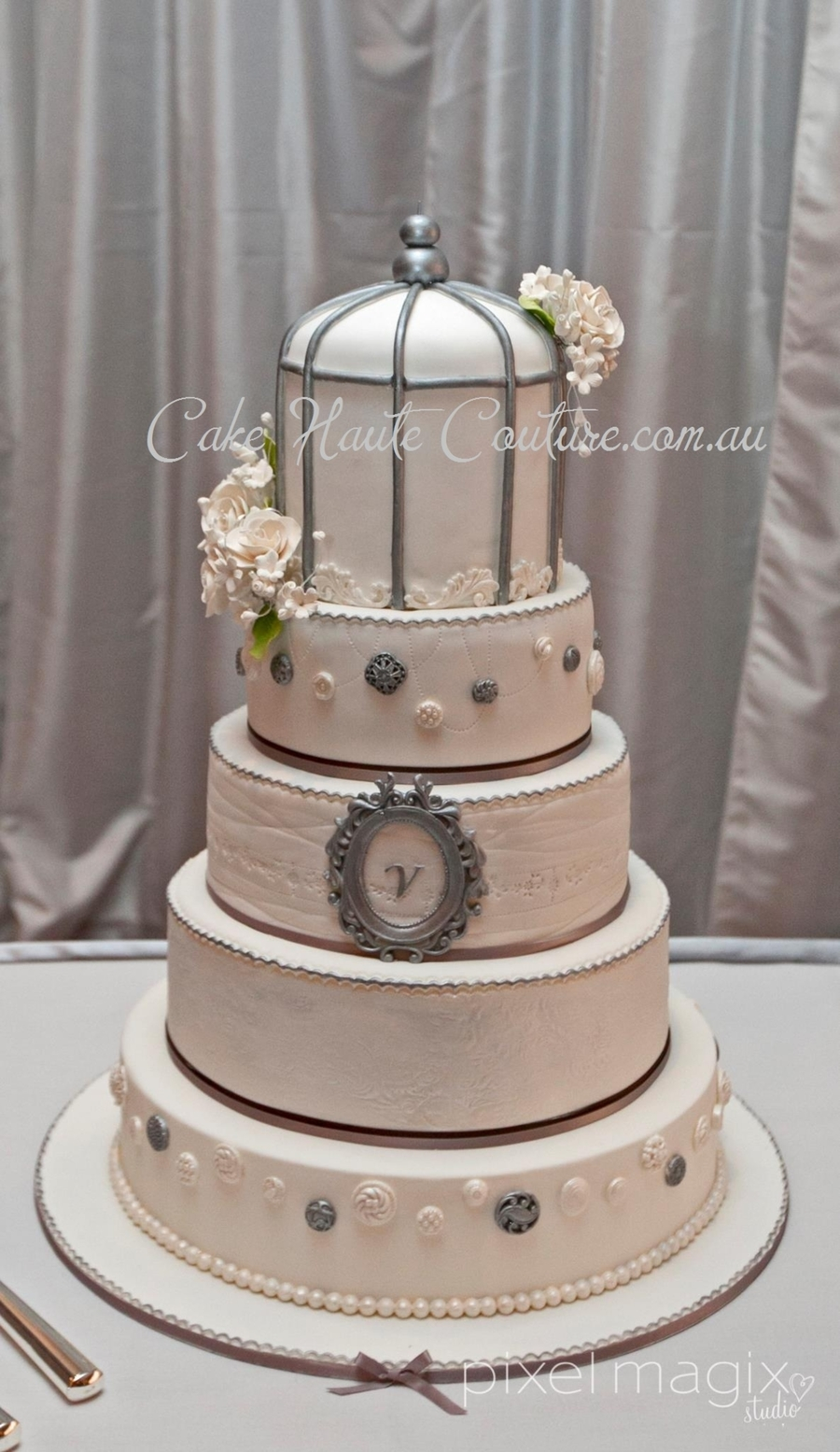 Vintage Birdcage Wedding Cake on Cake Central