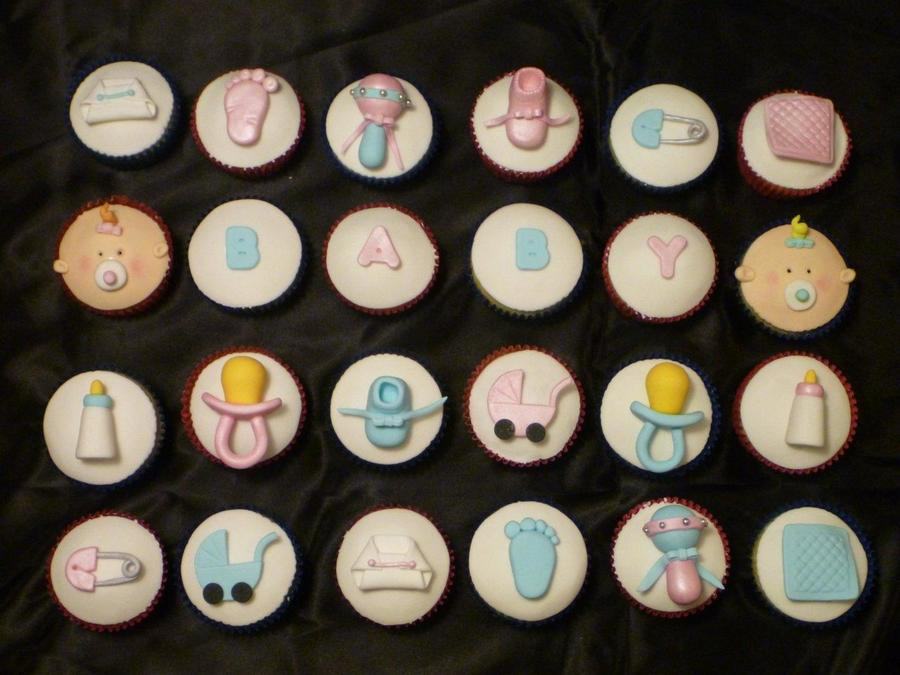 Pink And Blue Baby Shower Cupcakes Cakecentral Com