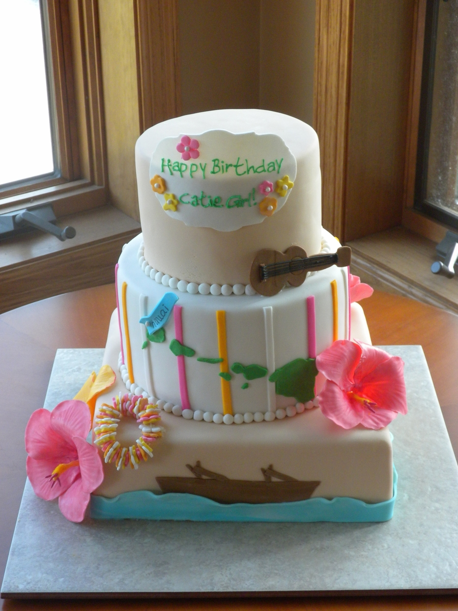 Hawaiin Themed Cake on Cake Central