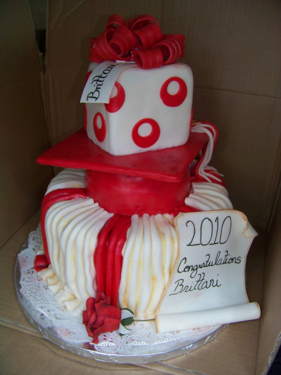 Red And White Graduation on Cake Central