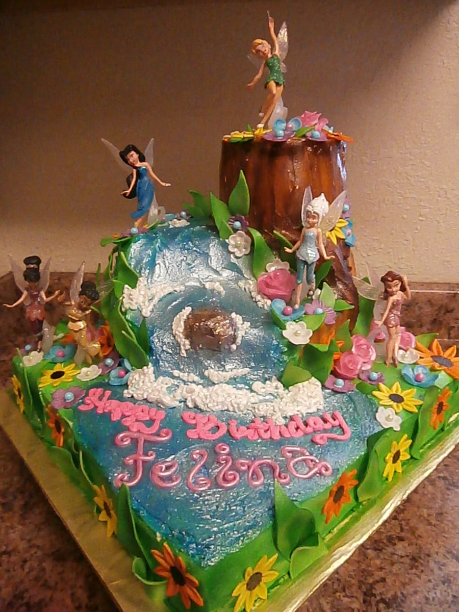 Tinkerbell Fairies Cake - CakeCentral.com