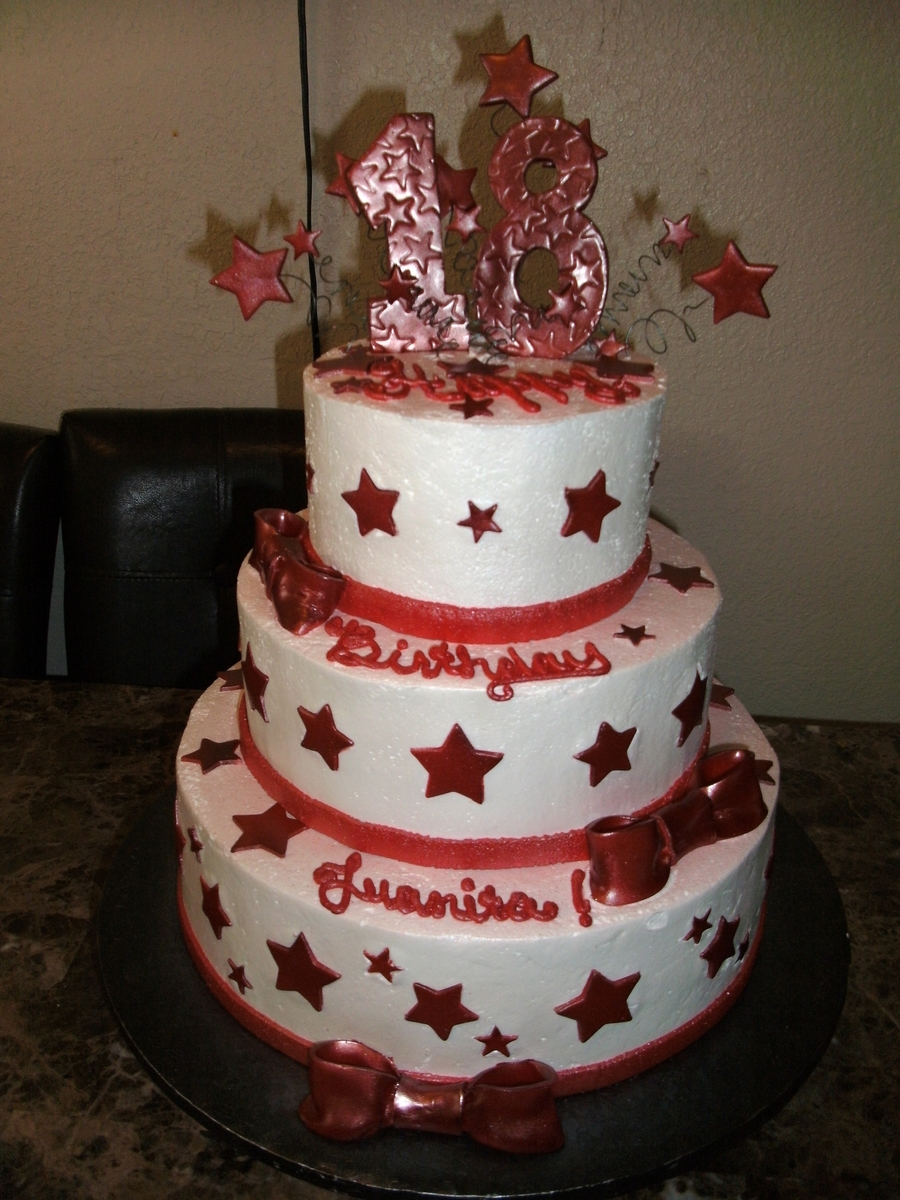 18Th Birthday Stars on Cake Central
