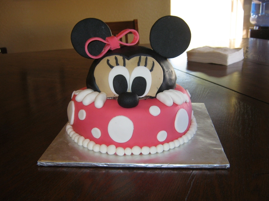 Peek-A-Boo Minnnie Mouse Cake on Cake Central