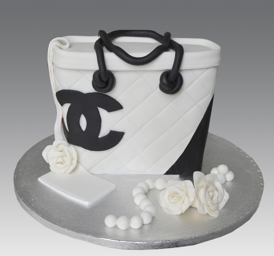 White Chanel Bag Cake Cakecentral Com