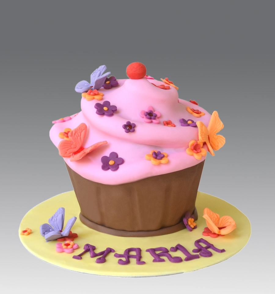 Spring Giant Cupcake Cake on Cake Central