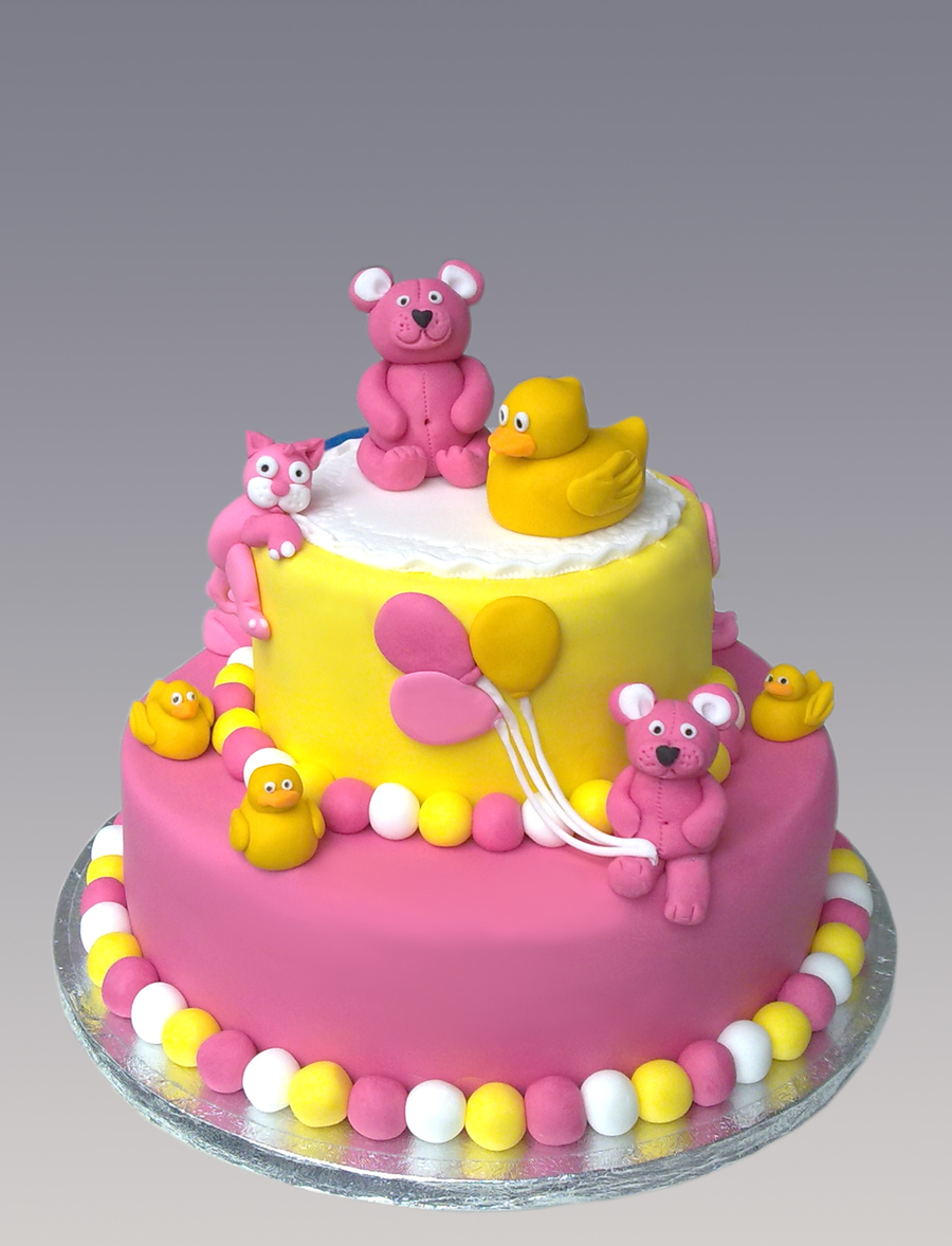 Teddy & Duck Cake on Cake Central