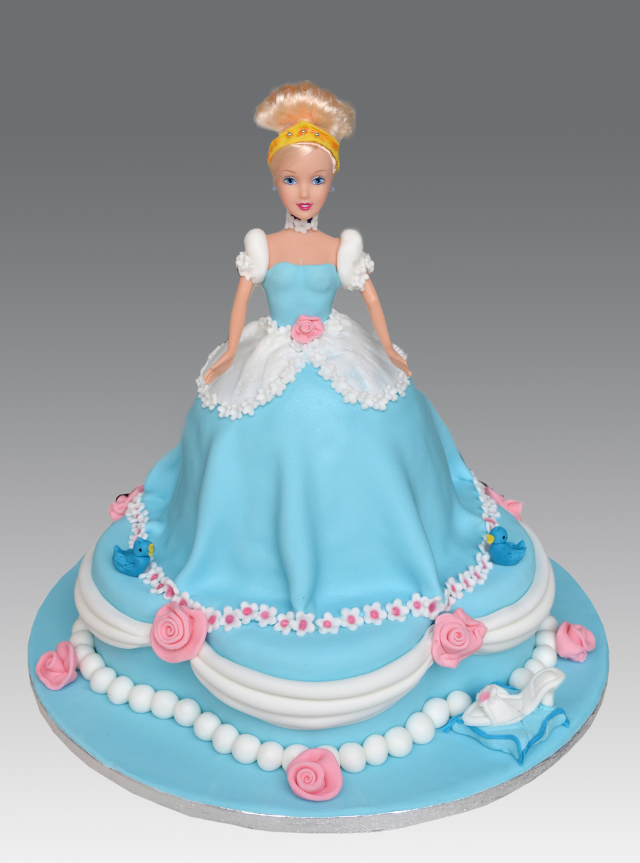 Disney Princess Doll Birthday Cake