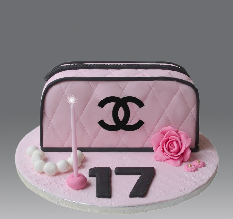 Small Pink Chanel Bag on Cake Central