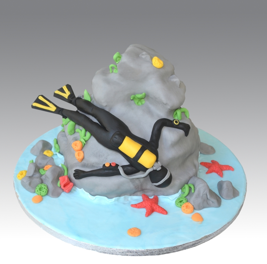 Scuba Diving Cake on Cake Central