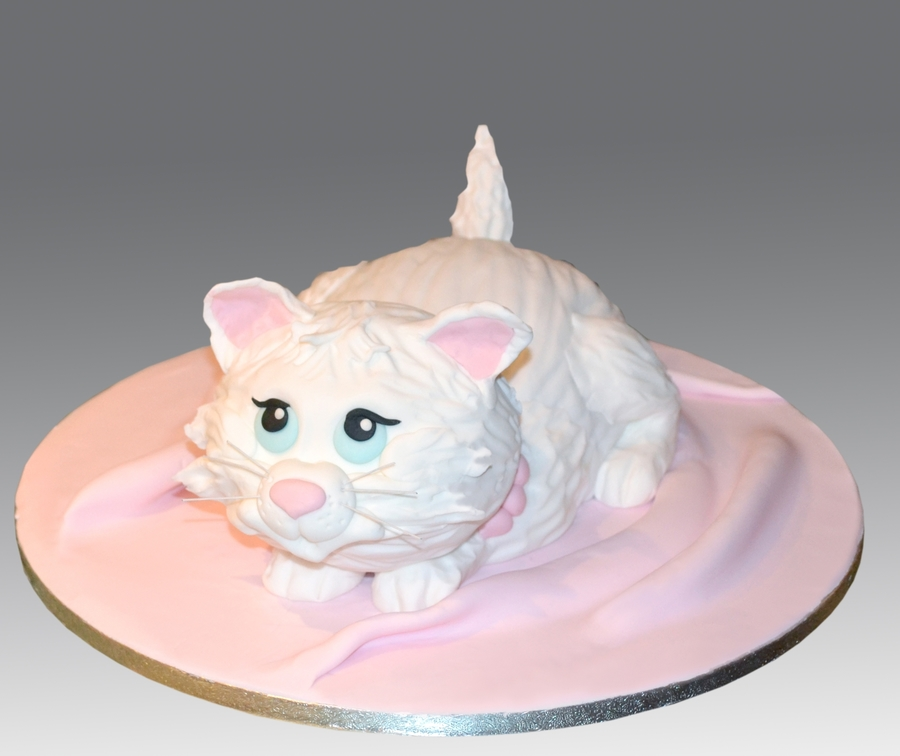 Cute Kitten Cake on Cake Central