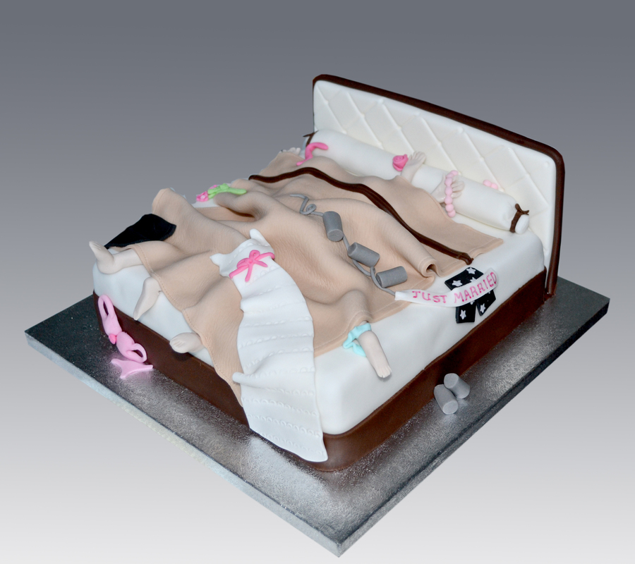 Just Married Bed Cake on Cake Central