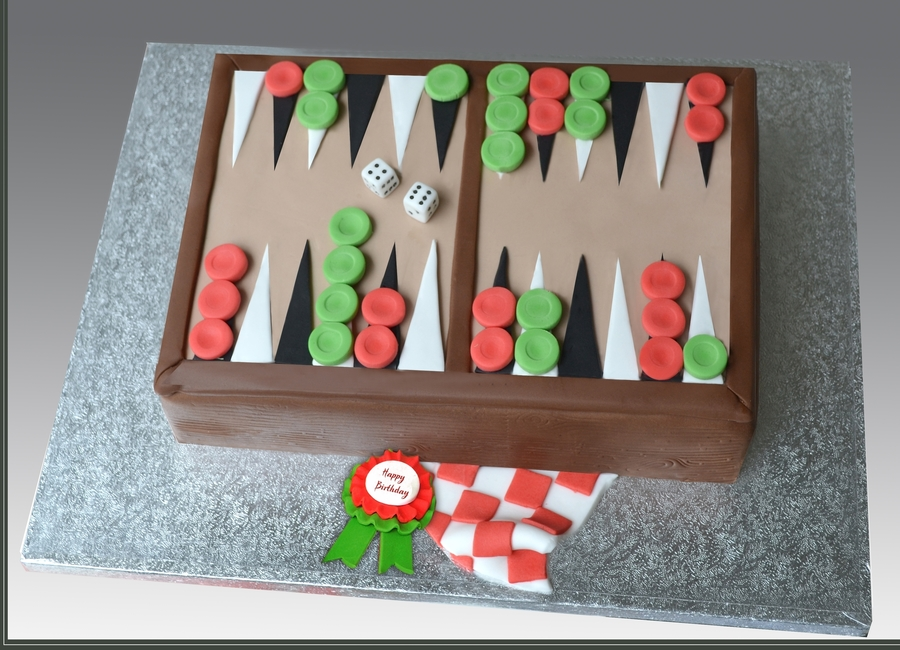 Backgammon Cake  on Cake Central